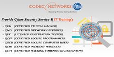 Codec Networks Provide Ec council accredited training center in Delhi,India . we are also Providing online Training like Python , Java , Networking , Ethical Hacking & more Training 's .