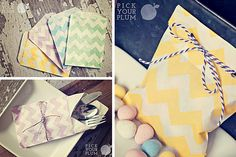 You're in Charge of Treats!  Chevron Bags coming in at 60% off.  Set of 40!  pickyourplum.com  #bags #paperbags #chevron