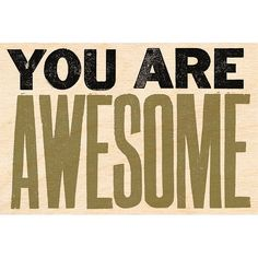 You are Awesome Wooden Postcard