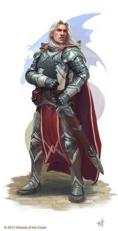 m Fighter Royal Army Plate Cloak Sword Eastern Border Captain Havarr, Knight of Bahamut by ~AnthonyFoti on deviantART DnD d&d pathfinder D&D Fantasy Grounds Fantasy Warrior, Fantasy Male, Fantasy Rpg, Medieval Fantasy, Fantasy Dwarf, Dragon Warrior, Dragon Knight, Knight Art, Fantasy Portraits