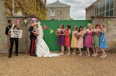 rainbow, multi colour wedding bridesmaids, image by Fuller Photography