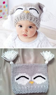 Beanie Knitting Patterns Free, Baby Sweater Patterns, Knit Baby Sweaters, Baby Hats Knitting, Knitting For Kids, Loom Knitting, Baby Patterns, Free Knitting, Knitted Hats Kids