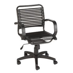 Flat Bungee Office Chair with Arms
