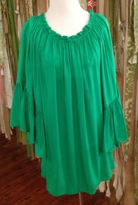 Emerald Ruffle Top/Dress