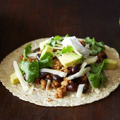 Coconut-Lime Pork Tacos with Black Beans and Avocado Recipe on Food52 recipe on Food52