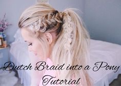 messy+blonde+pony+with+side+dutch+braid