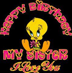 Happy Birthday to my little sister may God let u see many more ! Enjoy ur day ! Luv ya !