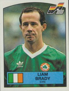 Liam Brady of Rep of Ireland. Football Stickers, Football Fans, Chris Morris, Celtic Fc, Republic Of Ireland, Vignettes, Paninis, Baseball Cards, America's Cup