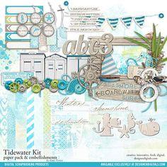 Tidewater Scrapbooking Kit - Digital Scrapbooking Kits DesignerDigitals