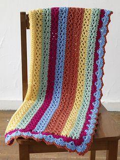 Ravelry: Summer Stripes Baby Afghan (crochet) pattern by Lion Brand Yarn