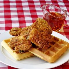 fried chicken and waffles at ad hoc in yountville ca ad hoc ad hoc ...