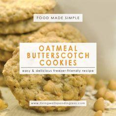 Oatmeal Butterscotch Cookies | DIY Oatmeal Cookie Recipes | Easy Yummy Cooki Recipe | Yummy Oatmeal Butterscotch Cookies | Oatmeal Scotchies