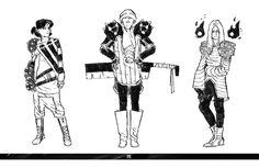 konradwerks//sketchbook — More 1001 Knights brainstorming.