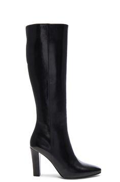 Image 1 of Saint Laurent Lily Zip Boots in Black