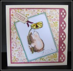 penny black hedgie friends cards | ve used a Penny Black stamp from the Wonderful Day set. I love these ...