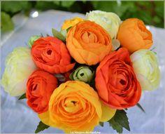 bouquet renoncule orange