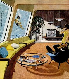 24 Best Retro Futurism Homes Images Mid Century House Mid Century - Futuristic-house-with-space-age-design