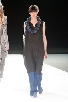 Yohji Yamamoto Spring 2013. I had shoes like this in the '80s. Steel blue leather oxfords.