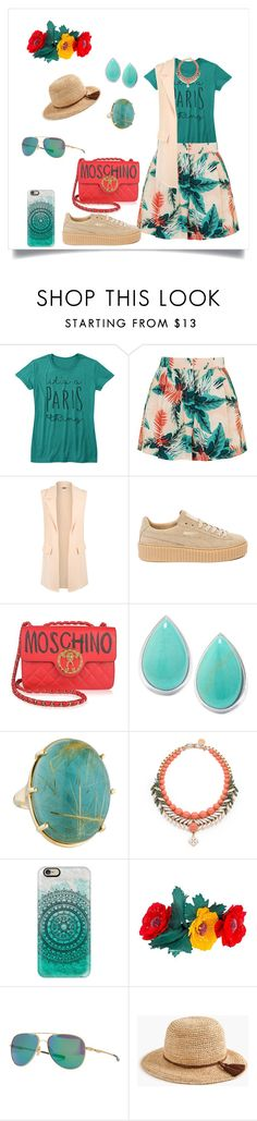 """""""Casual"""" by megeller ❤ liked on Polyvore featuring Topshop, WearAll, Puma, Moschino, Ippolita, Ellen Conde, Casetify, Kenzo, Oakley and J.Crew"""