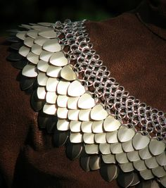 Medieval Viking Armor Scalemaille Necklace