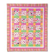 Cheery Cherries and Strawberries Quilt by Cindy Surina.