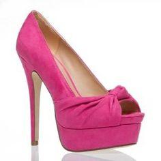 pink stilettos | PInk Peep-toe Stilettos