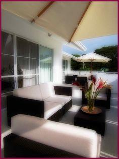 The terrace of Boutique B Casa Veintiuno in Sosua - Dominican Republic