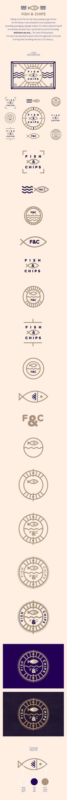 Fish & Chips // Branding on Behance