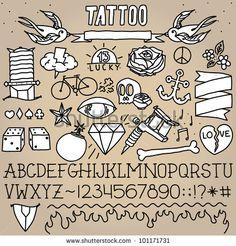 Old School Tattoo Elements 1 http://vectors123.com/vector/shutterstock-vector-eps-101171731