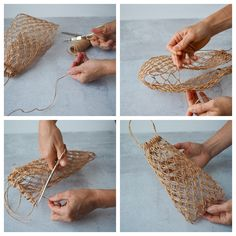 make your own: structured macrame basket. – Reading My Tea Leaves – Slow, simple, sustainable living. Macrame Bag, Macrame Knots, Couture Cuir, Reading My Tea Leaves, Diy And Crafts, Arts And Crafts, Macrame Design, Make Your Own, How To Make
