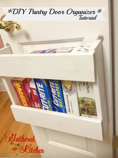 DIY Pantry Door Organizer