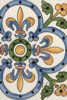 Mizner Tile Studio's hand painted and handcrafted tiles are a beautiful addition for your home design needs such as kitchen back splashes, bathroom floors and tubs, and stair risers. These beautiful ceramic tiles are also a lovely addition to entry ways and pool tiles. #miznertilestudio #tiledesign #painted tiles