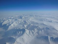 Alaskan mountains seen from high altitude aboard the NASA P-3B
