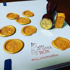 セリアの #シーリングワックス と #シーリングスタンプ で作ったもの。楽しくてはまります。ワックス1本で9個はできそう。 #notebookers #MyLittleWishBox