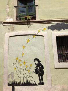 In Barri de Gracia, Barcelona, Spain #StreetArt