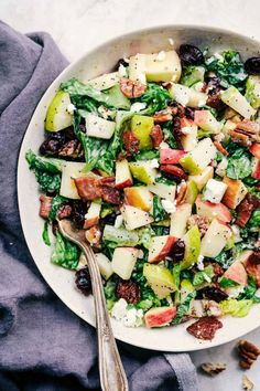 Autumn Chopped Salad with Creamy Poppyseed Dressing - - Anisha Howell Salad Recipes Salad Recipes Holidays, Best Salad Recipes, Fruit Salad Recipes, Healthy Recipes, Fruit Salads, Avocado Recipes, Lunch Recipes, Autumn Chopped Salads, Fall Salad