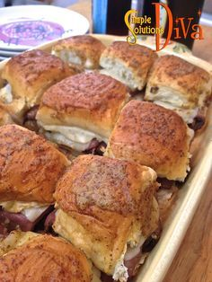 Roast Beef Sliders For A Crowd! Perfect Super Bowl Food! From SimpleSolutionsDiva.com!