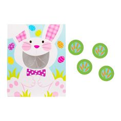 Easter Bunny Disc Toss Game 5pc