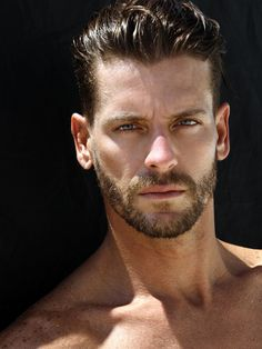 The handsome Josh Button in an eye-catching beach story captured by photographer Ricky Cohete. Moustaches, Sexy Bart, Perfect Beard, Rick Y, Look Man, Handsome Faces, Handsome Guys, Men's Grooming, My Guy