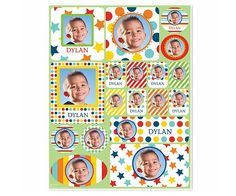 Picture Perfect Personalized Sticker - Blue - I See Me!