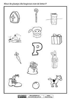 Kleur de plaatjes die beginnen met de letter P [Marije Andringa]