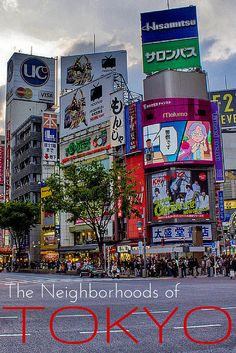 A Beginners Guide to the Neighborhoods of Tokyo. Love the tips, MUST PIN for Japan Lovers!
