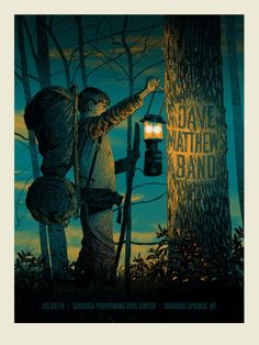 DMB Poster 5-30-2014 - Saratoga Performing Arts Center - Saratoga Springs, NY