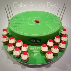 AFL football cake by Cake Art by Bec. https://m.facebook.com/profile.php?id=253457001361590&ref=bookmark
