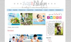 INSTANT DOWNLOAD Premade Blogger Template by AlwaysInBluhm
