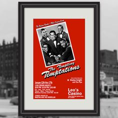 """On this day in 1967, The Temptations kicked off a historic six-night stand at Leo's Casino in Downtown Cleveland. That year, the legendary soul group played 18 sold out shows promoting their """"Greatest Hits"""" album. Check out the poster we created for that show… it's a great addition to the wall of any fan of that Motown Sound! #Temptations Cleveland Concerts, Downtown Cleveland, Original Temptations, Gladys Knight, Big Show, Band Posters, Night Stand, Sugar Art, Motown"""