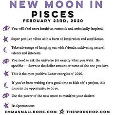 It's a New Moon in Pisces ♓️ . This month's New Moon is full of good vibes — take a look at how you can take advantage of this positive energy!