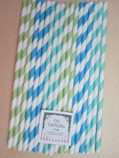 Paper straws for mason Jar.  They come in all different colors! @Cedar Balazs