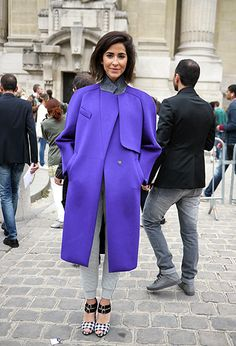 Street Style: PWF ~ Oversized Purple Coat <3