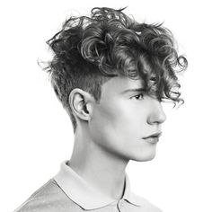 curls curls curls,  men's haircut